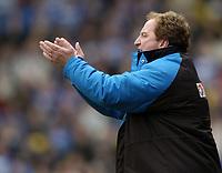 Photo: Richard Lane.<br /> Watford v Reading. Nationwide Division One. 09/05/2004.<br /> Watford manager, Ray Lewington.