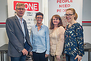 NO FEE PICTURES                                                                                                                                                30/5/19 Community groups from across Ireland attended the Befriending Network Ireland (BNI) seminar in Dublin's Guinness Enterprise Centre on Thursday, which discussed the development of a sustainable community sector. Pictured are Sean Moynihan, CEO Alone with Denise Croke, Susan Higgins and julie Carville, Older Voices Kildare.Picture: Arthur Carron