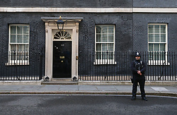 A policeman stands in Downing Street, London, as Theresa May's future as Prime Minister and leader of the Conservatives was being openly questioned after her decision to hold a snap election disastrously backfired.