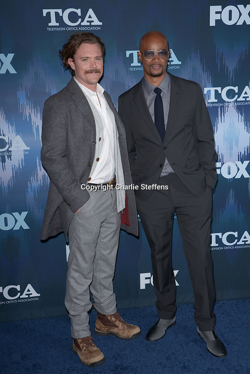 CLAYNE CRAWFORD (L) and DAMON WAYANS at the Fox Winter TCA 2017 All-Star Party at the Langham Hotel in Pasadena, California
