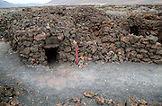 Ruins of pre-Spanish Mahos village, Poblado de la Atalayita, Pozo Negro, Fuerteventura, Canary Islands, Spain