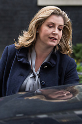 London, UK. 18th December, 2018. Penny Mordaunt MP, Secretary of State for International Development, leaves 10 Downing Street following the final Cabinet meeting before the Christmas recess. Topics discussed were expected to have included preparations for a 'No Deal' Brexit.