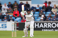 Tom Kohler-Cadmore of Yorkshire leaves the ball during the opening day of the Specsavers County Champ Div 1 match between Yorkshire County Cricket Club and Hampshire County Cricket Club at Headingley Stadium, Headingley, United Kingdom on 27 May 2019.