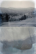 landscape with blurry photo Japan ca 1940s