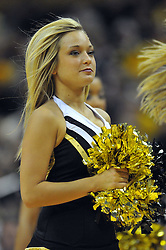 Jan 23, 2010; Columbia, MO, USA; Missouri Tigers cheerlearders perform for the crowd at a time-out during the game against the Nebraska Cornhuskers at Mizzou Arena in Columbia, MO. Missouri won 70-53. Mandatory Credit: Denny Medley-US PRESSWIRE