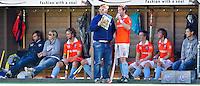 AMSTELVEEN - De bank van Bloemendaal bij de RABO Hoofdklasse Heren-wedstrijd tussen Pinoke en Bloemendaal. FOTO KOEN SUYK  voor KNHB