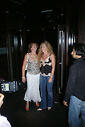 """Natasha Corrett and Kelly Hoppen. after-show party following the opening night of  at Wyndham's Theatre of """"As You Like It"""", at Mint Leaf, Suffolk Place, London.  on June 21, 2005. ONE TIME USE ONLY - DO NOT ARCHIVE  © Copyright Photograph by Dafydd Jones 66 Stockwell Park Rd. London SW9 0DA Tel 020 7733 0108 www.dafjones.com"""