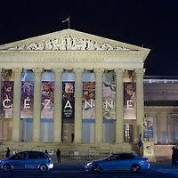 Building of the Museum of Fine arts hosting the exhibition of French Post-Impressionist painter Paul Cezanne during its last day. More than 180 thousand people saw the exhibition during four month in Budapest, Hungary on February 17, 2013. ATTILA VOLGYI