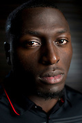 DALLAS, TX - JULY 21:  Texas Tech linebacker Sam Eguavoen poses for a portrait during the Big 12 Media Day on July 21, 2014 at the Omni Hotel in Dallas, Texas.  (Photo by Cooper Neill/Getty Images) *** Local Caption *** Sam Eguavoen
