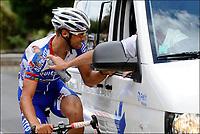 Sykkel<br /> Tour de France 2011<br /> 06.07.2011<br /> Foto: PhotoNews/Digitalsport<br /> NORWAY ONLY<br /> <br /> 5th stage / Carhaix - Cap Frehel<br /> <br /> BOONEN Tom (QUICK STEP CYCLING TEAM - BEL) after his crash