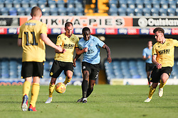 Jed Wallace of Millwall and Elvis Bwomono of Southend United  tussle for the ball - Mandatory by-line: Arron Gent/JMP - 24/07/2019 - FOOTBALL - Roots Hall - Southend-on-Sea, England - Southend United v Millwall - pre season friendly