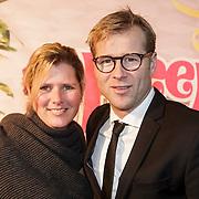 NLD/Amsterdam/20150201 - Premiere Heerlijk duurt het Langst, Leo Alkemade en partner Margriet Baalman
