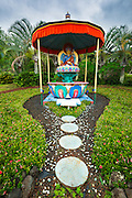 Padmasambhava (Buddhist) shrine, Paleaku Gardens Peace Sanctuary, Kona Coast, The Big Island, Hawaii USA