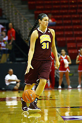 15 March 2012:  Jordan Laduke during a first round WNIT basketball game between the Central Michigan Chippewas and the Illinois Sate Redbirds at Redbird Arena in Normal IL