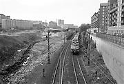 Södra station i Stockholm på 1980-talet. ASEA-huset till vänster, som sedan inrymde Konstnärernas Kollektivverkstad (KKV).