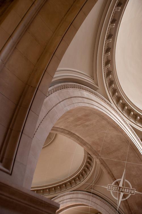 Main lobby ceiling of Metropolitan Museum of Art, NYC.