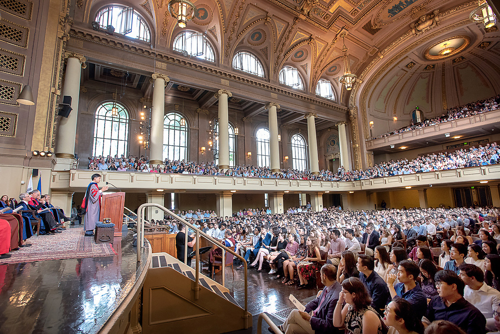 Photography ©Mara Lavitt<br /> August 25, 2018<br /> <br /> Yale College Class of 2022 Opening Assembly in Woolsey Hall and reception on Cross Campus.