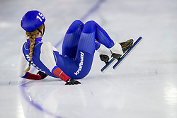 10-11-2017 NED: ISU World Cup, Heerenveen<br /> massastart vrouwen, Elizaveta KAZELINA RUS