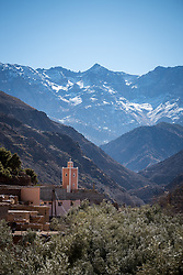 5 January 2018, Azzaden Valley, Morocco: The village of Azrafsan.