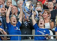 Football - SSE Womenís FA Cup Final - Arsenal Women vs. Chelsea Ladies<br /> <br /> Katie Chapman (Chelsea Ladies FC) and Maren Mjelde (Chelsea Ladies FC) lift the trophy at Wembley Stadium.<br /> Maren Mjelde