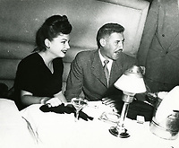 1948 Anne Baxter at Ciro's Nightclub in West Hollywood