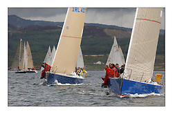 Yachting- The first days inshore racing  of the Bell Lawrie Scottish series 2003 at Tarbert.  Light shifty winds dominated the racing...Pics Marc Turner / PFM