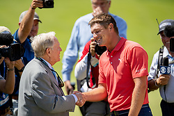 June 3, 2018 - Dublin, OH, U.S. - DUBLIN, OH - JUNE 03: Bryson DeChambeau reacts after winning the second round playoff of the Memorial Tournament at Muirfield Village Golf Club in Dublin, Ohio on June 03, 2018.(Photo by Adam Lacy/Icon Sportswire) (Credit Image: © Adam Lacy/Icon SMI via ZUMA Press)