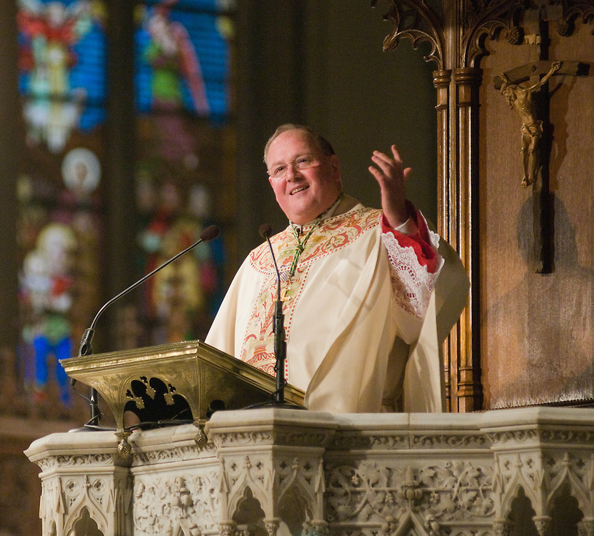 Archbishop Dolan give his first homily as Archbishop of New York during the installation mass, Wednesday April 15 2009.