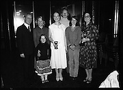 Young Dress Designer of the Year.     (M75).1979..22.05.1979..05.22.1979..22nd May 1979..The Cassidy Fabrics sponsored Young Dress Designer of the Year, make and model competition was held today in Liberty Hall,Dublin. The overall winner of the competition was Ms Marianne Byrne (15),Cabinteely,Co Dublin. Ms Byrne is a pupil at the Cabinteely Community School...A proud Marianne Byrne poses with her family and the competition sponsors after she was declared the Young Dress Designer of the Year 1979.