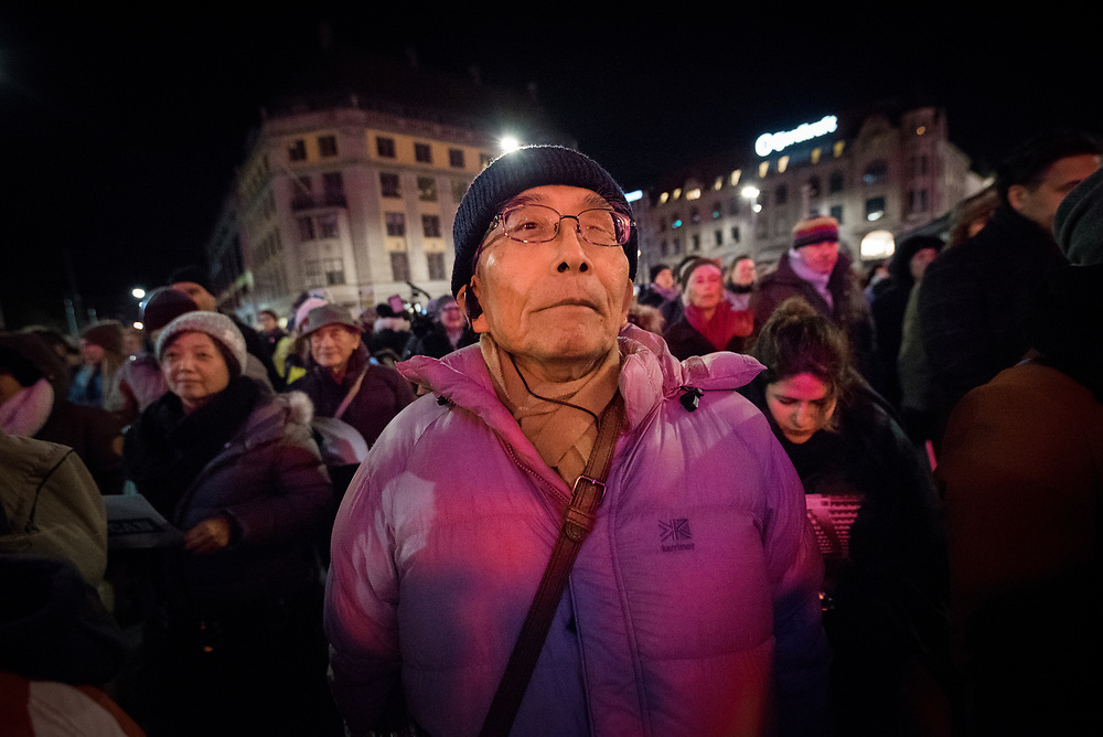 """10 December 2017, Oslo, Norway: In the evening of 10 December some 4,000 people from around the world gathered in central Oslo for a torch light march for peace. The event took place after the Nobel Peace Prize award 2017, awarded to the International Campaign to Abolish Nuclear Weapons (ICAN), for """"its work to draw attention to the catastrophic humanitarian consequences of any use of nuclear weapons and for its ground-breaking efforts to achieve a treaty-based prohibition of such weapons"""". Among the crowd were more than 20 """"Hibakusha"""", survivors of the atomic bombings in Hiroshima and Nagasaki, as well as a range of activists, faith-based organizations and others who work or support work for peace, in one or another way."""