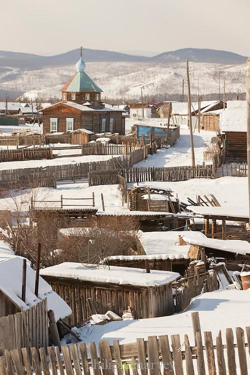 Baikalskoe Village on Lake Baikal. Siberia, Russia