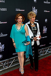 LOS ANGELES, CA - JUNE 10: Kat Kramer(L) and Karen Kramer attend the opening night premiere of 'Grandma' during the 2015 Los Angeles Film Festival at Regal Cinemas L.A. Live on June 10, 2015. Byline, credit, TV usage, web usage or linkback must read SILVEXPHOTO.COM. Failure to byline correctly will incur double the agreed fee. Tel: +1 714 504 6870.