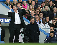 Photo: Lee Earle.<br /> Chelsea v Newcastle United. The Barclays Premiership.<br /> 19/11/2005. Newcastle manager Graeme Souness shows his frustration.