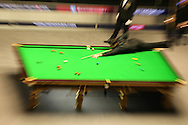 Ronnie O'Sullivan in action against Neil Robertson in the final. .Betvictor Welsh Open snooker 2016, Final day at the Motorpoint Arena in Cardiff, South Wales on Sunday 21st  Feb 2016.  <br /> pic by Andrew Orchard, Andrew Orchard sports photography.