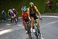 Robert Gesink (NED - Team LottoNL - Jumbo), Domenico Pozzovivo (ITA - Bahrain - Merida) during the 105th Tour de France 2018, Stage 16, Carcassonne - Bagneres de Luchon (218 km) on July 24th, 2018 - Photo Luca Bettini / BettiniPhoto / ProSportsImages / DPPI