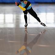 September 18, 2010 - Kearns, Utah - Viktor Gluschenko races in long track speedskating time-trials held at the Utah Olympic Oval.