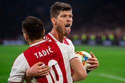 13-03-2019 NED: Ajax - PEC Zwolle, Amsterdam<br /> Ajax has booked an oppressive victory over PEC Zwolle without entertaining the public. Klaas Jan Huntelaar #9 of Ajax, Dusan Tadic #10 of Ajax
