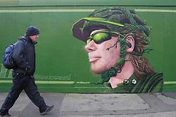 Graffiti on building site hordings