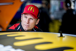 October 19, 2018 - Kansas City, Kansas, United States of America - Jamie McMurray (1) hangs out in the garage during practice for the Hollywood Casino 400 at Kansas Speedway in Kansas City, Kansas. (Credit Image: © Justin R. Noe Asp Inc/ASP via ZUMA Wire)