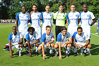 Fotball<br /> Frankrike<br /> Foto: Dppi/Digitalsport<br /> NORWAY ONLY<br /> <br /> FOOTBALL - FRIENDLY GAMES 2010/2011 - AJ AUXERRE v ES TROYES - 17/07/2010<br /> <br /> LAGBILDE AUXERRE TEAM : BACK ROW LEFT TO RIGHT : DENNIS OLIECH / CEDRIC HENGBART / JEAN PASCAL MIGNOT / OLIVIER SORIN / ANTHONY LE TALLEC / ADAMA COULIBALY . FRONT ROW : STEVEN LANGIL / DELVIN N'DINGA / BENOIT PEDRETTI / JEREMY BERTHOD / ROY CONTOUT .