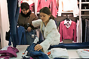 Yekaterinburg, Russia, 01/04/2006..Young shoppers in the city centre Uspensky shopping mall