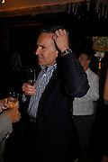 Stephen Bayley. No Campaign's Summer Party. A celebration of the 'Non' and 'Nee' votes in the European referendum in France and The Netherlands held at The Peacock House, 8 Addison Road, London. 5 July 2005. ONE TIME USE ONLY - DO NOT ARCHIVE  © Copyright Photograph by Dafydd Jones 66 Stockwell Park Rd. London SW9 0DA Tel 020 7733 0108 www.dafjones.com