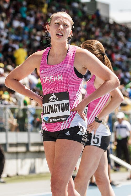 adidas Grand Prix Diamond League Track & Field: high school girls Dream Mile, Malia Ellington