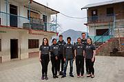 Volunteers from the Devichour group, Devichou, Karyabinayak, Nepal. ICS / Restless Development volunteers in the Dakshinkali region of Nepal. (© Andy Aitchison / ICS)