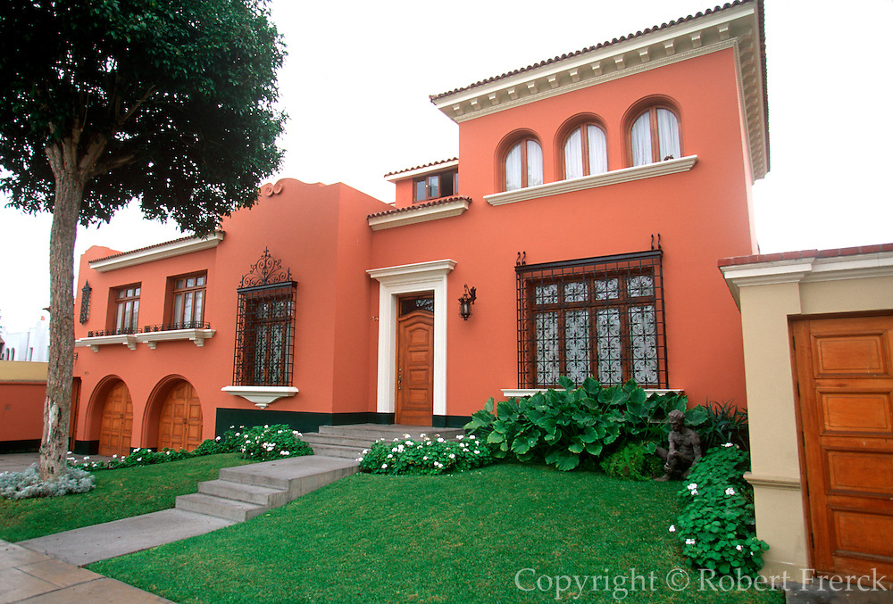 PERU, LIMA, LIFESTYLE upscale private homes in the  posh Lima suburb of San Isidro