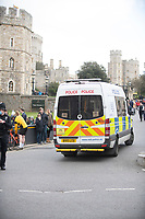 Police at Windsor Castle after The Duke of Edinburgh died, aged 99, Windsor Castle, Windsor, Berkshire, UK.photo by Brian Jordan