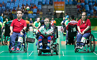 20160910 Copyright onEdition 2016©<br /> Free for editorial use image, please credit: onEdition<br /> <br /> Boccia Athlete Evie Edwards, from Ipswich competing for ParalympicsGB at the Rio Paralympic Games 2016.<br />  <br /> ParalympicsGB is the name for the Great Britain and Northern Ireland Paralympic Team that competes at the summer and winter Paralympic Games. The Team is selected and managed by the British Paralympic Association, in conjunction with the national governing bodies, and is made up of the best sportsmen and women who compete in the 22 summer and 4 winter sports on the Paralympic Programme.<br /> <br /> For additional Images please visit: http://www.w-w-i.com/paralympicsgb_2016/<br /> <br /> For more information please contact the press office via press@paralympics.org.uk or on +44 (0) 7717 587 055<br /> <br /> If you require a higher resolution image or you have any other onEdition photographic enquiries, please contact onEdition on 0845 900 2 900 or email info@onEdition.com<br /> This image is copyright onEdition 2016©.<br /> <br /> This image has been supplied by onEdition and must be credited onEdition. The author is asserting his full Moral rights in relation to the publication of this image. Rights for onward transmission of any image or file is not granted or implied. Changing or deleting Copyright information is illegal as specified in the Copyright, Design and Patents Act 1988. If you are in any way unsure of your right to publish this image please contact onEdition on 0845 900 2 900 or email info@onEdition.com