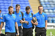 Oxford United Forward, Jamie Mackie (19) Oxford United Defender, Tony McMahon (29) arrive at Fratton park during the EFL Sky Bet League 1 match between Portsmouth and Oxford United at Fratton Park, Portsmouth, England on 18 August 2018.