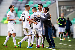 Nikola Jaros head coach of NK Rudar with players of NK Rudar during football match between NK Olimpija and NK Rudar Velenje in 2nd Round of Slovenian Cup 2019/20, on August 15, 2019 in Arena Stozive, Ljubljana, Slovenia. Photo by Grega Valancic / Sportida