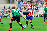 Atletico de Madrid´s Raul Garcia and Athletic Club´s Oscar de Marcos during 2014-15 La Liga match between Atletico de Madrid and Athletic Club at Vicente Calderon stadium in Madrid, Spain. May 02, 2015. (ALTERPHOTOS/Luis Fernandez)